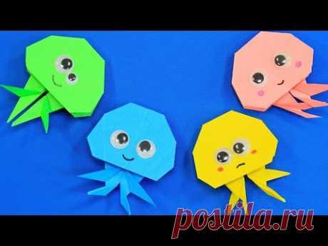 Оригами Медуза из бумаги