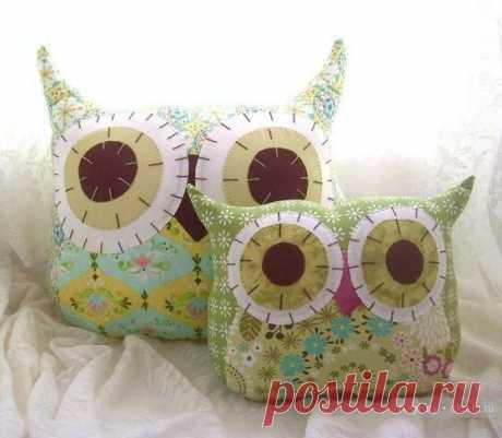 Игрушки подушки совы