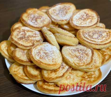 Пышные и вкусные оладушки без молока и яиц - проверенный антикризисный рецепт | Вкусно и полезно | Яндекс Дзен