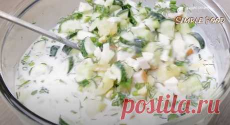 Окрошка - это идеальный вариант лёгкого и вкусного летнего блюда.