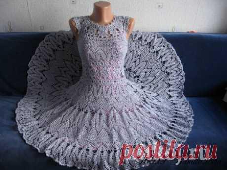 Прекрасное платье крючком от Нелли Виткаловой