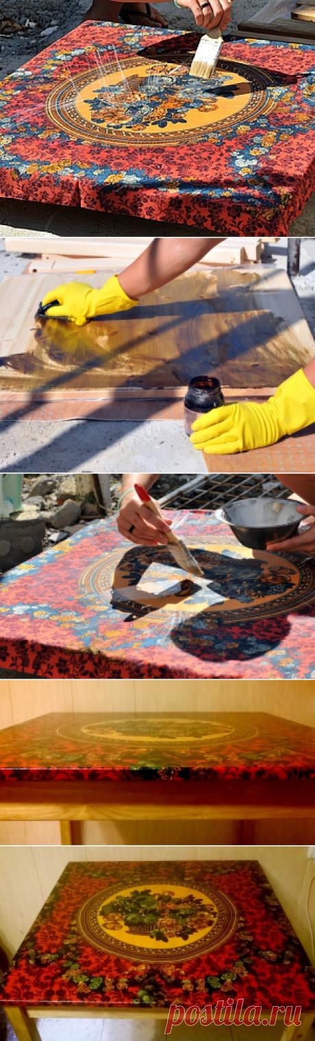 Новая жизнь старого платка, или Стол с платочной столешницей - Ярмарка Мастеров - ручная работа, handmade