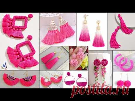 Hot Pink! Fashion DIY Earrings - On Daily Wear Outfits