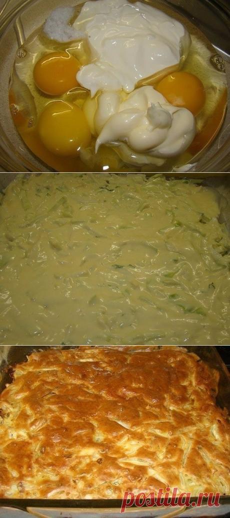 Как приготовить ленивый пирог с капустой, быстрее не бывает - рецепт, ингредиенты и фотографии