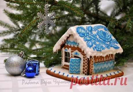 Праздничные пряничные домики Веры Черневич (+мастер-класс) — Рукоделие