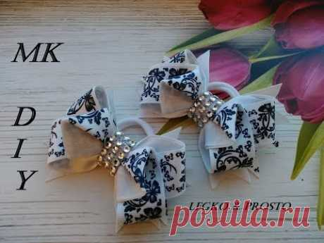 Бантики из репсовых лент Канзаши МК / The bow of REP ribbons / Fitas de fitas
