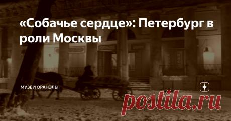 «Собачье сердце»: Петербург в роли Москвы Действие повести происходит в Москве. Но Питер неплохо сыграл роль столицы.