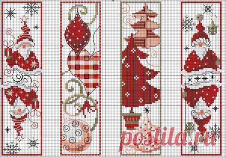 Готовимся -- подборка схем для вышивки крестом на новогоднюю тематику