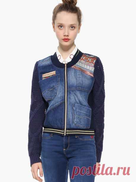 DESIGUAL Denim Jacket EXOTIC LAUDIO 17WWED06 | Canada US | Buy Online