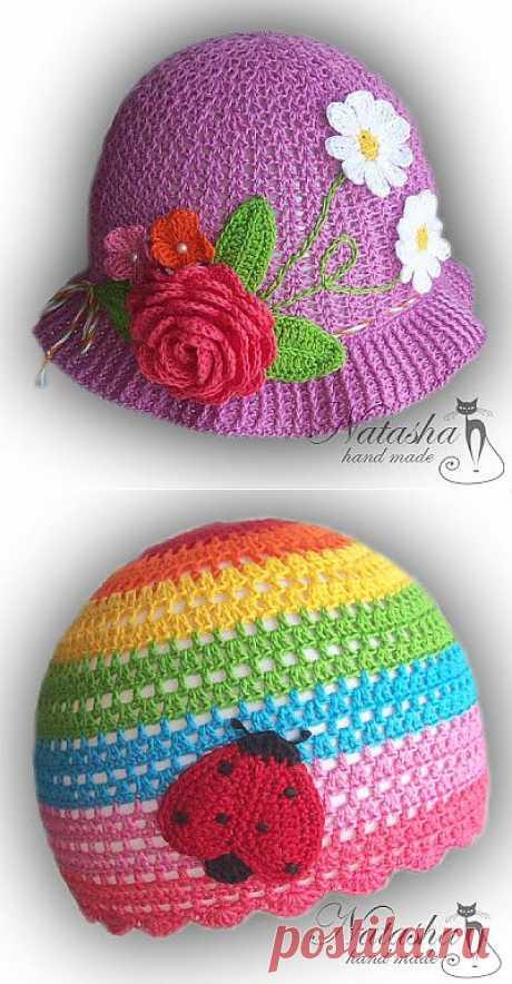 Natasha hand made : Летние шапочки