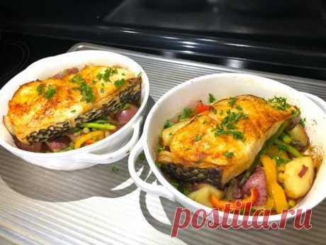 РЫБА В ДУХОВКЕ необыкновенная. Как я готовлю очень вкусный ужин, пальчики оближешь!