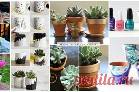 Ways of dressing of flower pots