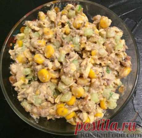 Рецепт: Шпротный салат с сухариками на RussianFood.com