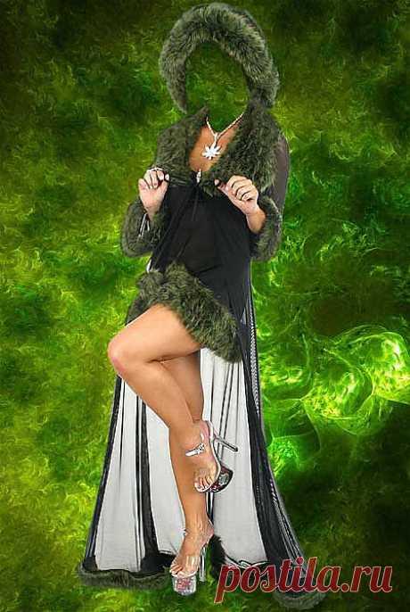 Скачать Шаблон для фото - Зелёный гламур.