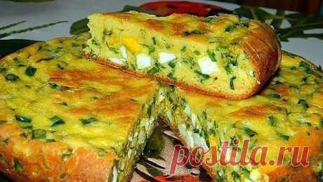 Пирог с яйцами и зеленым луком   NashaKuhnia.Ru