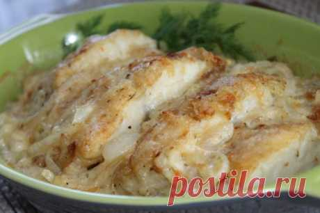 I like cooking so a small fish — in creamy and onions sauce under cheese - the SUPER CHIEF