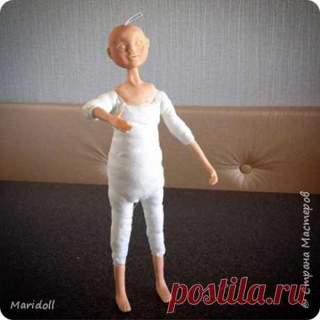 Мини мк : кукла в смешанной технике