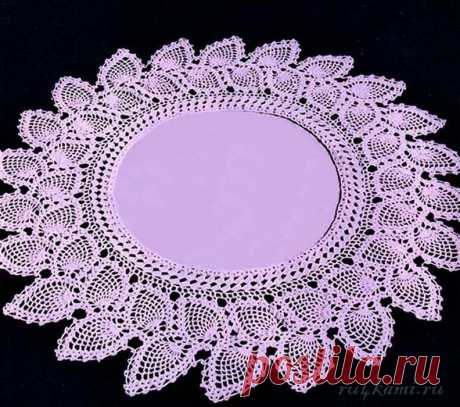 Beautiful napkin knitted a hook, the scheme according to the reference: http:\/\/ru4kami.ru\/vyazhem-dlya-doma\/533-krasivaya-salfetka-kryuchkom.html