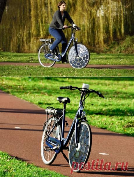 Голландская команда представила велосипед с солнечными батареями на колесах | Хаттабр.Ру