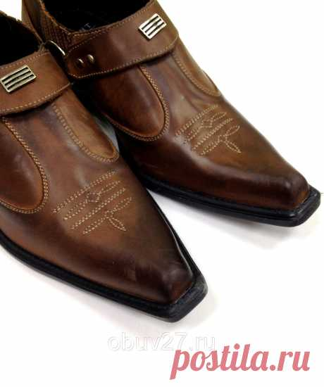 Казаки кожаные коричневые, цена 3 970 руб., купить в Хабаровске — Tiu. 107e7e58a1e