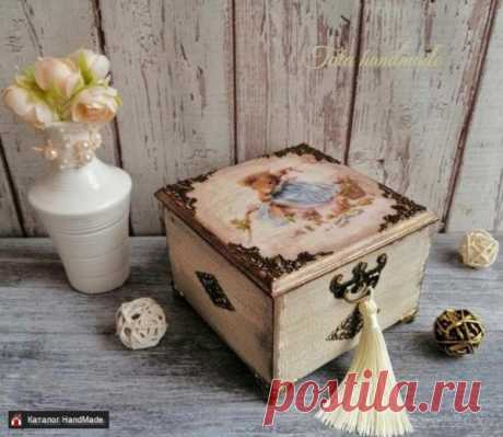 Шкатулка ''Мышка-модница'', ручная работа купить в Беларуси HandMade, цены в интернет магазинах