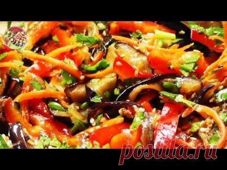 Hit of Korean cuisine, eggplants salad. Simply, tasty, cheap.
