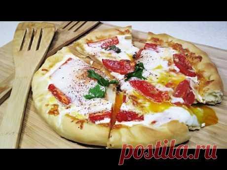 Яичница Анталия в домашнем лаваше.Турецкая яичница на тесте с сыром и помидорами или Турецкая Пицца - YouTube