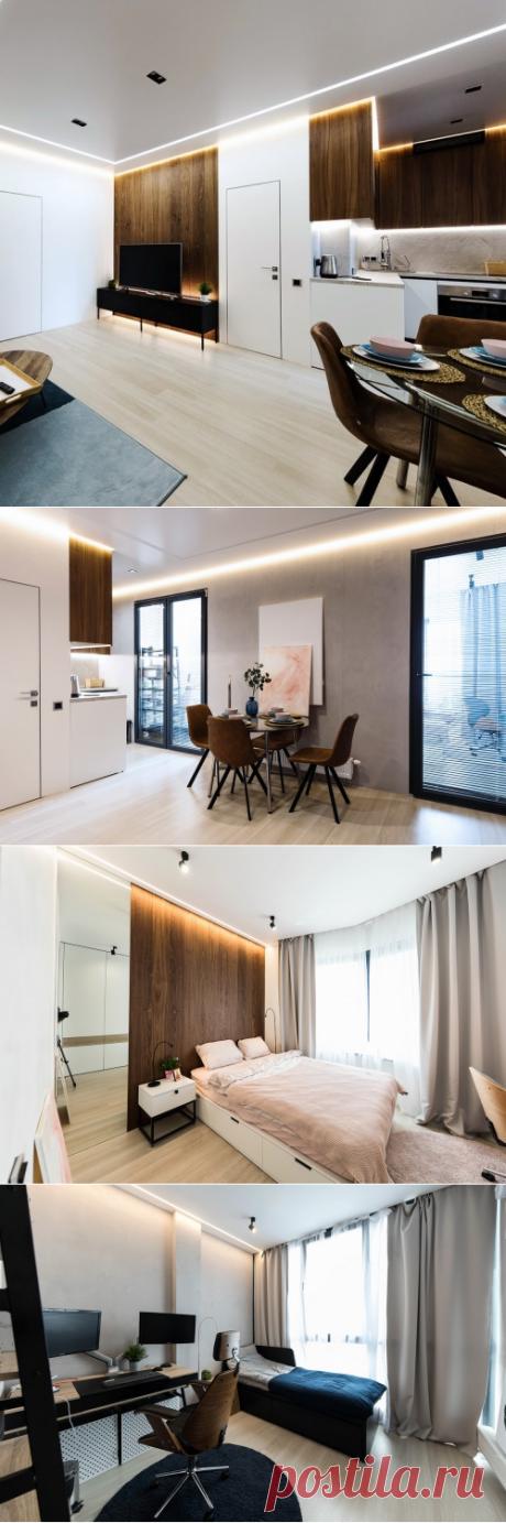 Ламинат Quick-Step и стеновые панели Coswick в интерьере квартиры
