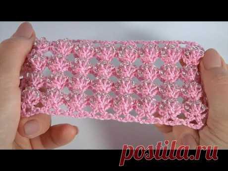 ВОЛШЕБНЫЙ УЗОР КРЮЧКОМ/СХЕМА вязания/Как вязать с БИСЕРОМ/МАСТЕР-КЛАСС #crochetwithseedbeads
