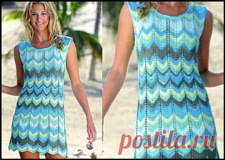 Три красивых ажурных платья на лето, которые легко связать спицами