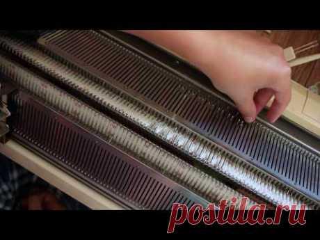 Резинка 2х2 на вязальной машине   Начало вязания