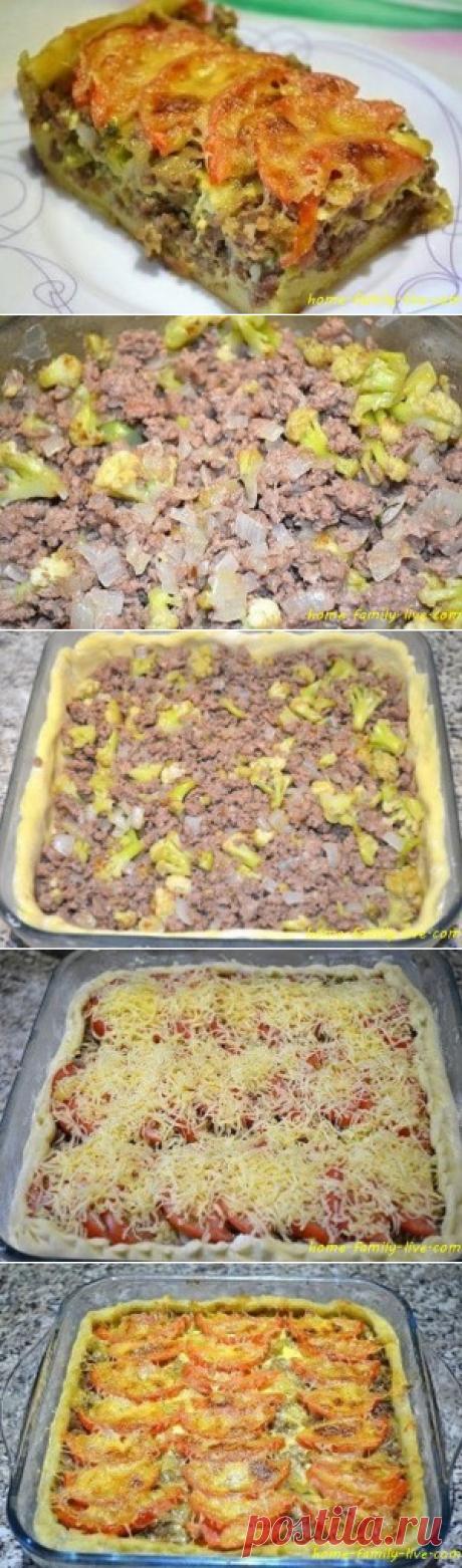 Мясной пирог из картофельного теста/Сайт с пошаговыми рецептами с фото для тех кто любит готовить