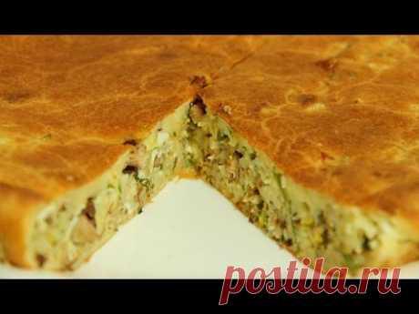 El pastel de aspic con la col sobre el kéfir