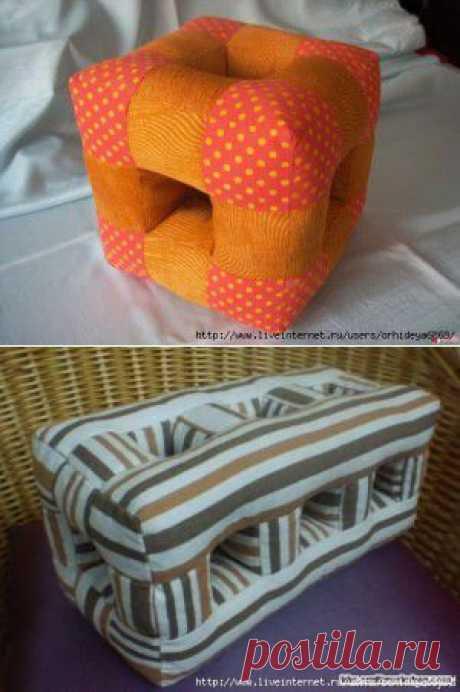 Шьем подушки - модель со сквозными отверстиями