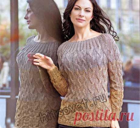 Пуловер косы - Хитсовет