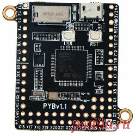 Отладочная плата PyBoard v1.1 Всем привет. Сегодня хочу рассказать про интересную на мой взгляд плату PyBoard v1.1. А интересна она тем, что для ее программирования используется язык Python 3. За подробностями прошу под кат. ...