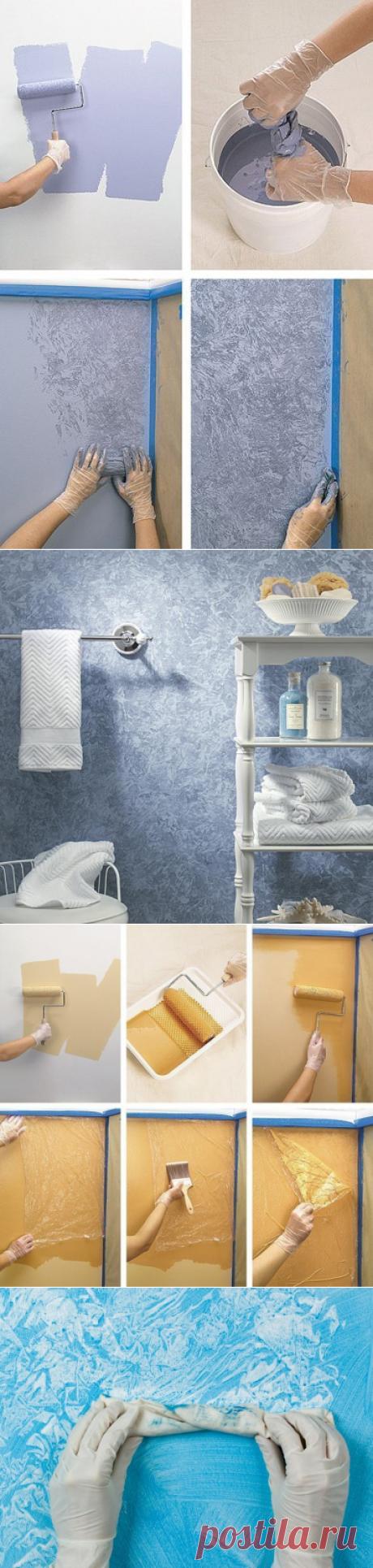 Необычные способы покраски стен — Наши дома