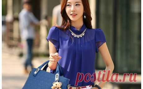 Блузка шифоновая женская - самые модные и трендовые модели с фото