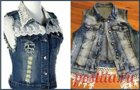 Новые предметы гардероба из старых джинсов, джинсовых рубашек, курток и комбинезонов! |