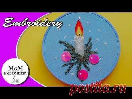Embroidery Hoop | Новогодняя вышивка