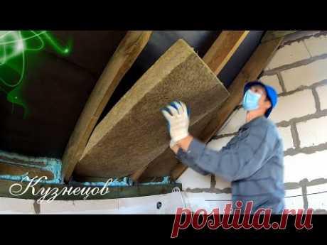 🟢Простое утепление крыши каменной ватой за 13600 рублей