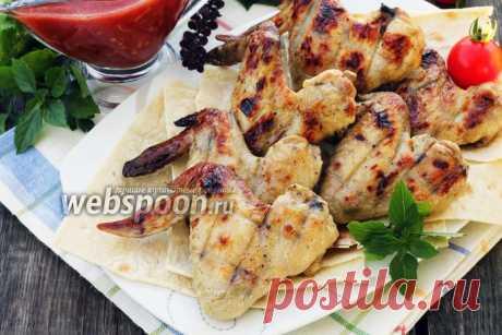 Шашлык из курицы в кефире рецепт, как замариновать курицу в кефире для шашлыка на Webspoon.ru