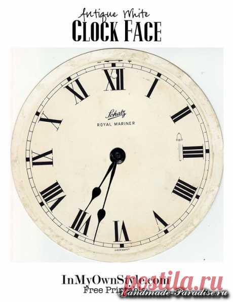 Шаблоны циферблатов часов для распечатки