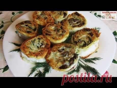 ЛАВАШ С КАРТОШКОЙ и ГРИБАМИ на Сковороде - Вкусное Постное (Вегетарианское) блюдо на каждый день! - YouTube