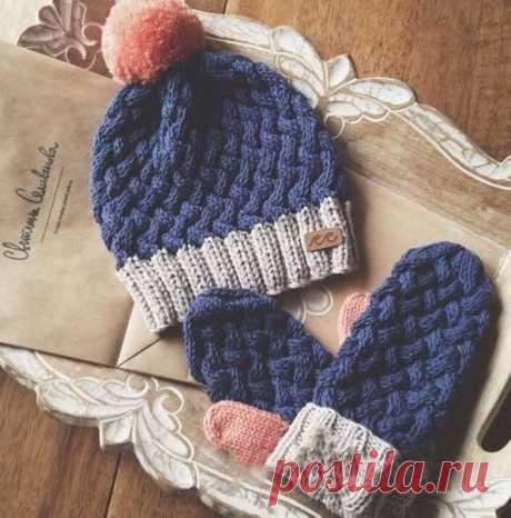 "Cap spokes pattern ""плетенка. A winter hat a volume pattern the scheme | I am a Hostess"