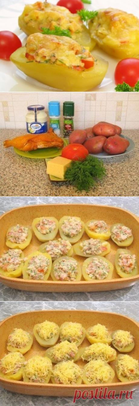Como preparar las patatas rellenadas - la receta, los ingredientes y las fotografías