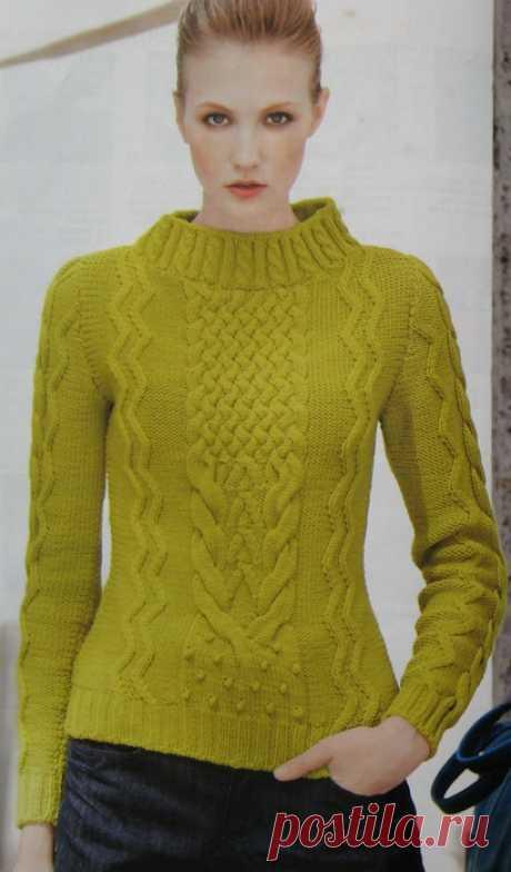 Вязание спицами для женщин Джемпер Citta, Mani di Fata, 2012, 1.