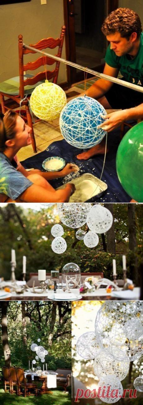 Как сделать оригинальные шары для декора