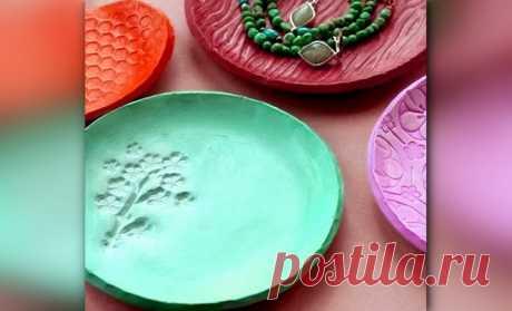 Декоративные тарелки из полимерной глины своими руками   33 Поделки   Яндекс Дзен