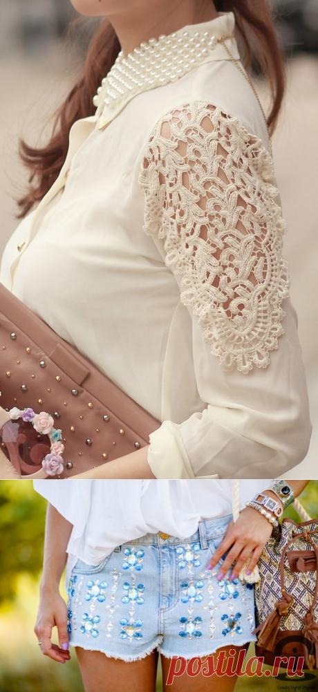 Незатейливый декор одежды для лета своими руками | Журнал Ярмарки Мастеров